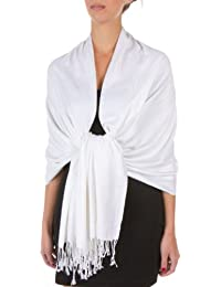 "Sakkas 78"" x 28"" Eco-Friendly Bamboo Rayon Soft Solid Pashmina feel Shawl / Wrap / Stole"