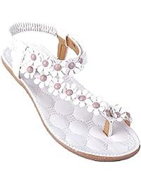 Calzado de mujer,Amlaiworld Zapatos de la playa de Bohemia dulce de abalorios sandalias del dedo del pie del clip