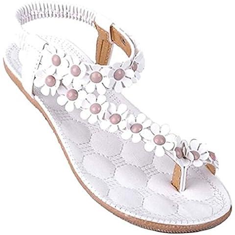 Calzado de mujer,Amlaiworld Zapatos de la playa de Bohemia dulce de abalorios sandalias del dedo del pie del