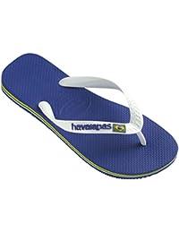 006265594db Unisex Kids Havaianas Brasil Logo Rubber Jelly Slip On Summer Flip Flops UK  8-4
