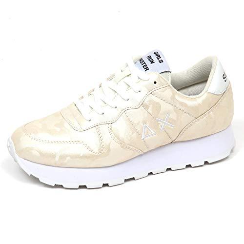 65dfec81d8f6f E9332 Sneaker Donna White Cream SUN 68 Scarpe Glitter Camouflage Shoe Woman   39