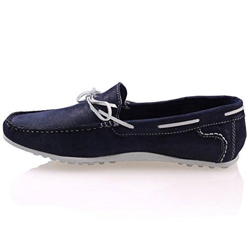G00553 Schuhe Leder Mokassins Männer für Blau Grisby Unze fxqPZYAW