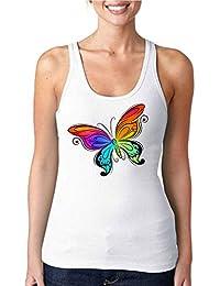 NIKANG Mariposa de Colores Moda Mujer Tank Top