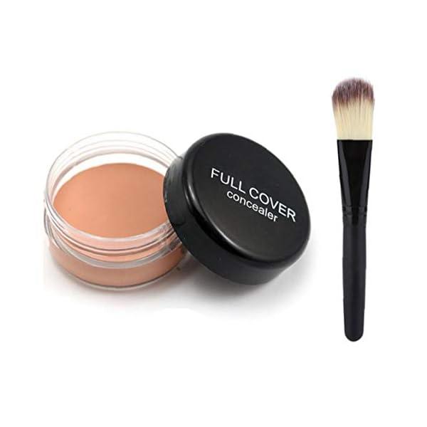 XKJFZ 1 Juego De Maquillaje Corrector con Cepillo Profesional Corrector (pc02) Fundación Concealermakeup Corrector