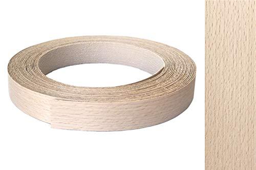 Kantenumleimer echt Buche 23mm x 10m mit Schmelzkleber als Möbelkante Furnier