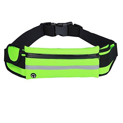 KANG@ Sport Taille Pack Multifunktions Running Männer und Frauen Outdoor Handy Tasche Anti-Diebstahl intime Stealth wasserdicht Beutel Grün wasserdicht