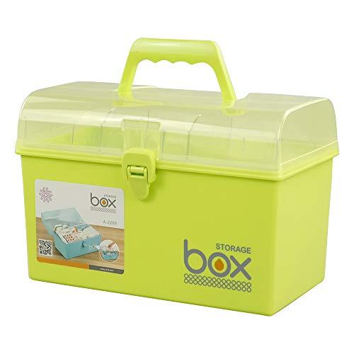 41rnYoNlXaL - Mayish Verde Caja de Medicamentos Caja Maquillaje Botiquín Caja de Almacenamiento de Plástico Botiquin de Primeros Auxilios Caja de Almacenamiento Pequeña con Cerradura, 1 Paquete