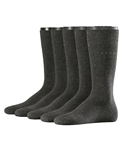 ESPRIT Herren Uni Socken Herrensocken, Blickdicht, Grau (anthra.mel 3080), 40 (Herstellergröße: 40-46) (erPack 5 -
