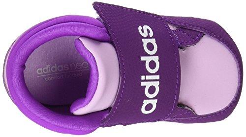 adidas Unisex Baby Hoops Cmf Mid Crib Lauflernschuhe Rosa (Orqcla / Ftwbla / Púrtri)
