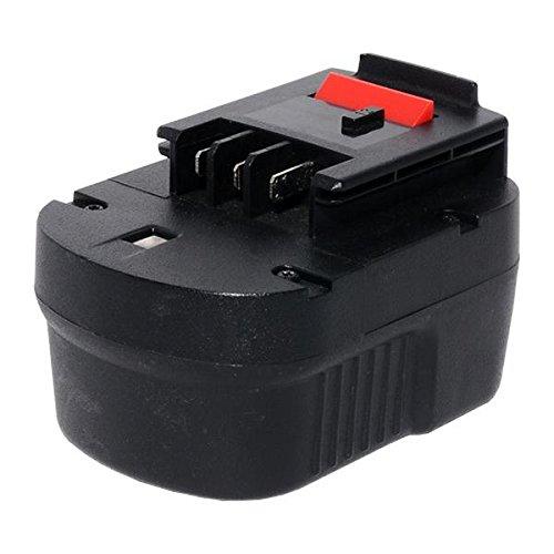 Sila Profi-Akku (128) Werkzeugakku, Ersatzakku für Black&Decker CP 122K - 12 Volt - 2000mAh - Ni-MH -Bauähnlich: A12 / A12EX / A12-XJ / A1712 / FS120B / FSB12 / FS12BX / HPB12