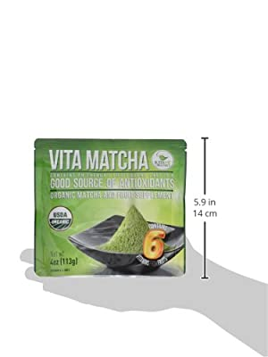 Kiss Me Organics Organic Matcha Green Tea Powder - Organic Natural Detoxifier and Fat Burner - 4-Ounce bag (113 grams) - from Kiss Me Organics
