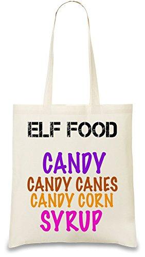 elf-food-candy-canes-corn-syrup-funny-slogan-bolso-de-mano
