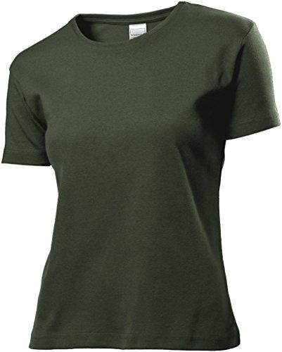 Stedman Apparel Damen T-Shirt Grün - Grün (Khaki)