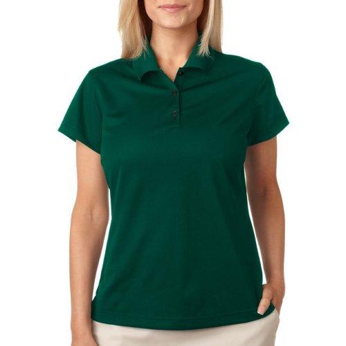 Adidas ClimaLite Basic Short Sleeve Polo, 2XL, Forest/white