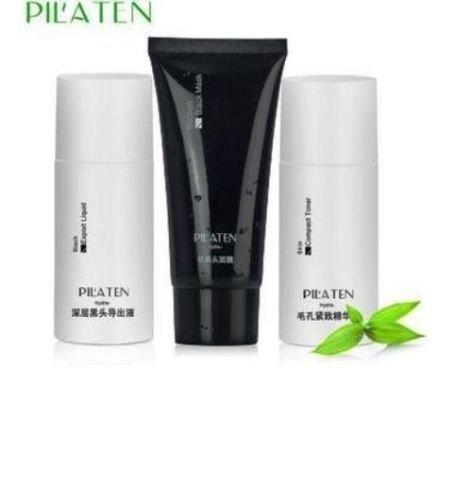 pilaten-blackhead-remover-acne-3pcs-set-export-liquid-black-mask-compact-toner