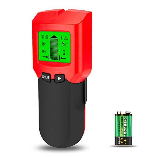 Linkax Ortungsgerät 3 in 1 Multifunktions Wand Scanner Detektor Stud Finder Metalldetektor für Metall, Rohre, Holz, Stromleitung, AC Spannungsführenden inklusive Batterie (Multifunktions-scanner)