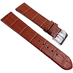 Eulit Rainbow Replacement Band Watch Band Leather Kalf Strap brown 390_25S, Abutting:14 mm