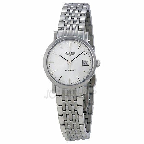 Longines Longines elegante Bianco Quadrante Acciaio inox Acciaio Ladies Orologio L43094126