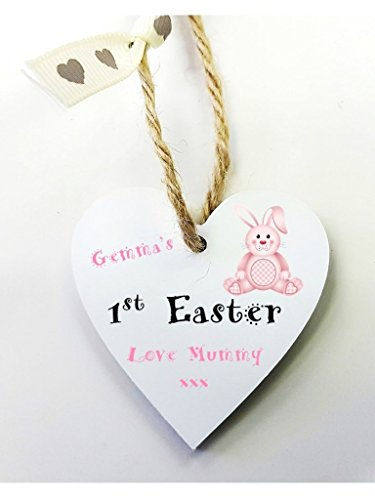 First easter gifts amazon personalised 1st easter wooden gift tag mini heart plaque free mini gift bag size 5cm personalised details required via amazon negle Gallery