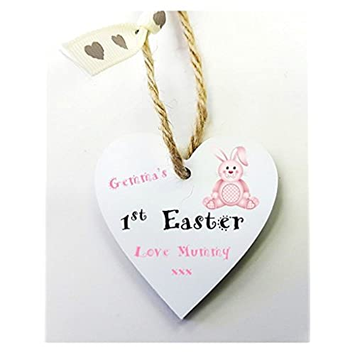 1st easter gifts amazon personalised 1st easter wooden gift tag mini heart plaque free mini gift bag size 5cm personalised details required via amazon negle Choice Image