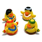 Dozen Vinyl Hula Dancer Rubber Duckies