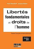 Libertés fondamentales et droits de l'homme, 13ème Ed.