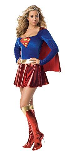 Generique - Sexy Supergirl-Kostüm Deluxe für Damen ()