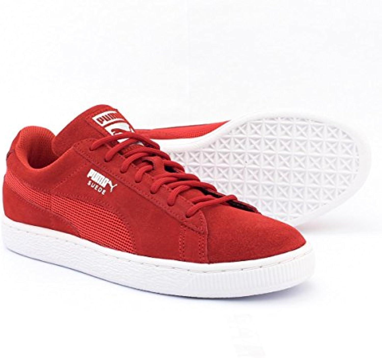 Puma Suede Classic Mesh FS 361370 01 Rot Unisex Sneaker