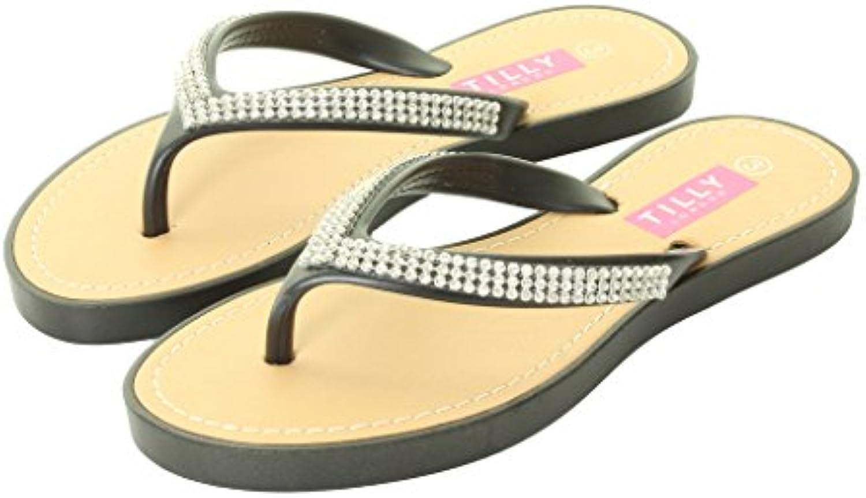 les nouvelles chers femmes chers nouvelles diamante mules flat summer sandale tongs beach sandales bd198d