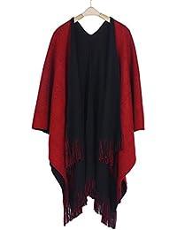 Ularma Femmes Hiver Tricotés Cachemire Poncho Capes Châle Cardigans Pull  Manteau 156c2dc00d4f