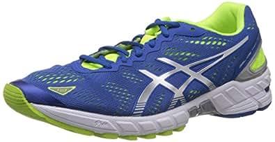 ASICS Men's Gel-Ds Trainer 19 White and Yellow Mesh Running Shoes - 6 UK