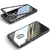 nobellgo® 360° Magnet Case Für (Samsung Galaxy S8, Schwarz Hülle Glas Metall Tasche inkl. 3D Full Displayfolie (Samsung Galaxy S8, Schwarz)