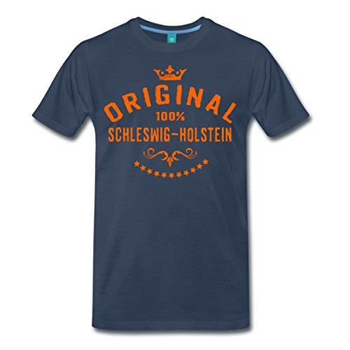Spreadshirt Original Schleswig-Holstein RAHMENLOS® Männer Premium T-Shirt, XXL, Navy