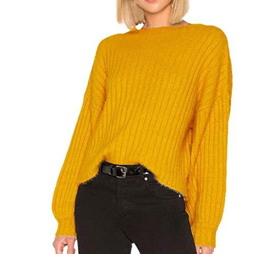 Pullover Sweatshirt für Damen,Kobay 2019 Halloween Heiligabend Weihnachten Christmas O-Ausschnitt Langarmbluse Solide Pullover Pullover Tops -
