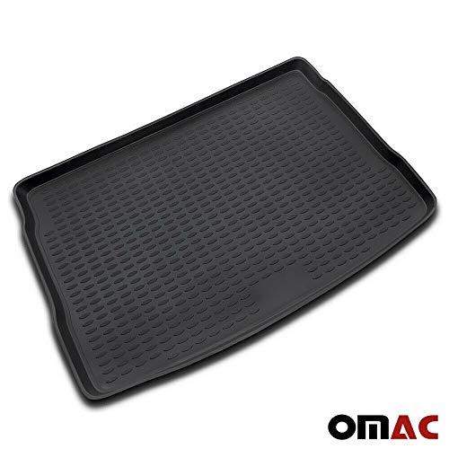 OMAC GmbH Kofferraumwanne Antirutschmatte Gummi Allwetter schwarz fahrzeugspezifisch für Golf 5 2003-2008 HB