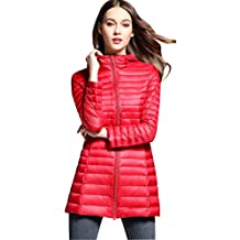 best cheap 089d5 bed5a piumino lunghi donna - Rosso - Amazon.it