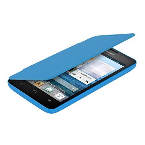 kwmobile Flip Case Hülle für Huawei Ascend G520 / G525 - Aufklappbare Schutzhülle Tasche im Flip Cover Style in Hellblau