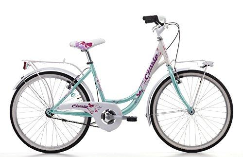 Fahrrad Cicli Cinzia Liberty Mädchen, Stahlrahmen (Seawater / White, 24 Zoll - Single-Speed)