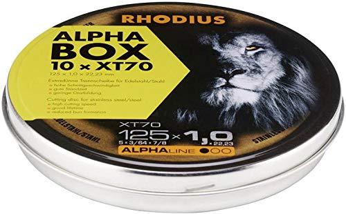 Rhodius 207809 Trennscheiben Edelstahl 125 x 1.0 mm, XT70 (10er Packung)