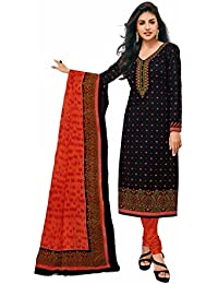 Miraan Printed Unstitched Cotton Dress Material And Churidar Suit For Women (RI628)