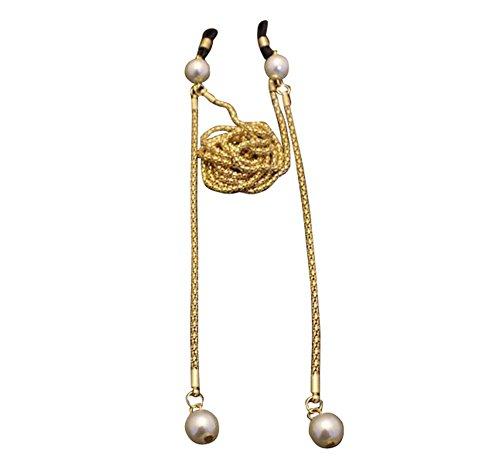 Brille Kette Metall Sonnenbrille hängende Hals Perle rutschfeste Lanyard, 03