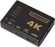 محول HDMI 5 منافذ بخمسة منافذ 5 بوصة، محول HDMI 5 في 1 مزود بمحول HDMI يعمل بالأشعة تحت الحمراء اللاسلكية، يدع