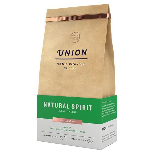Union Hand Roasted Coffee Organic Natural Spirit Wholebean, 200g 41rnmZMiouL