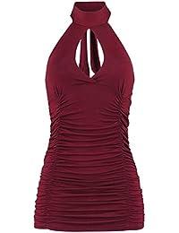 Fashion Victim Turn Up Top Femme rouge