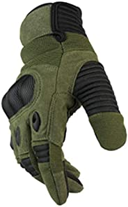 Military Tactical Gloves, Touch Screen Rubber Hard Knuckle Full Finger Gloves,Motorcycle Outdoor Sports Gloves