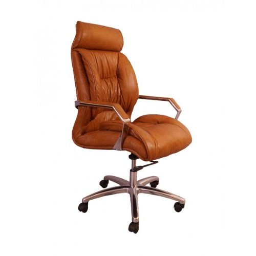 Bürosessel Old New York Leder Columbia Brown Echtleder Büro Stuhl (Brown-leder-büro-stuhl)