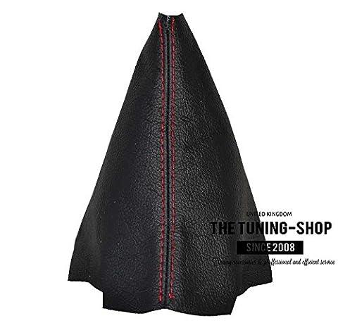 Für KIA RIO 2012–16manuelle Schaltsack schwarzes Leder mit roten Nähten
