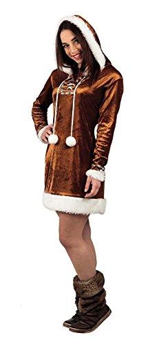 Kostüm für Erwachsene Eskimo Cuite Elite Gr.40/42 (Weiße Halloween Kostüm Eskimo)