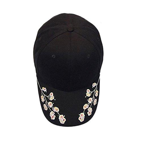 OYSOHE Sonnenschutz Baseball Kopf Damen, Neueste Frauen Stickerei Baumwoll baseballmütze Hysteresen Kappen Hip Hop Hüte