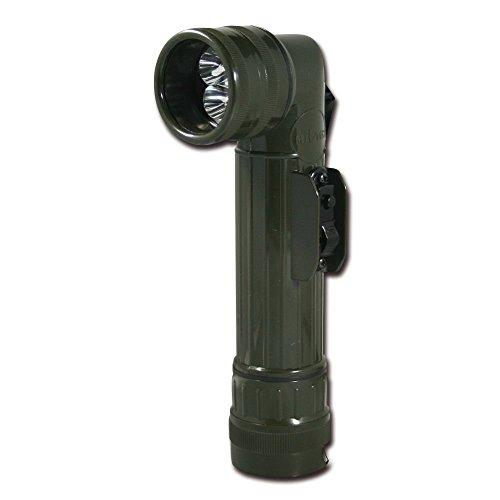 US LED WINKELTASCHENLAMPE mit Farbfilter LG OLIV Outdoor Prepper EDC Angeln